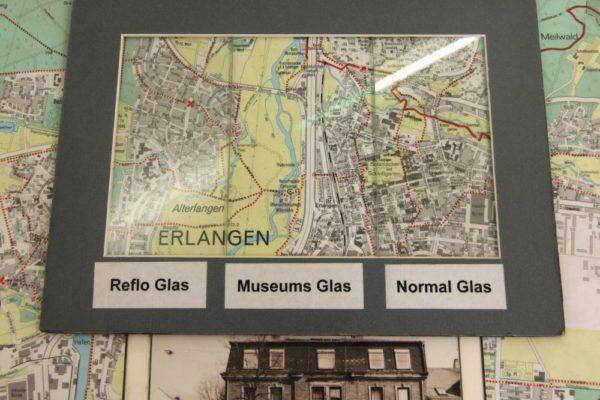 Der Unterschied zwischen normalen Glas und Museumsglas
